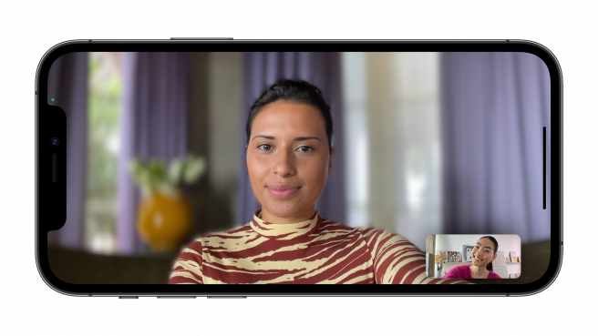 Puede desenfocar el fondo en FaceTime usando el modo Retrato.