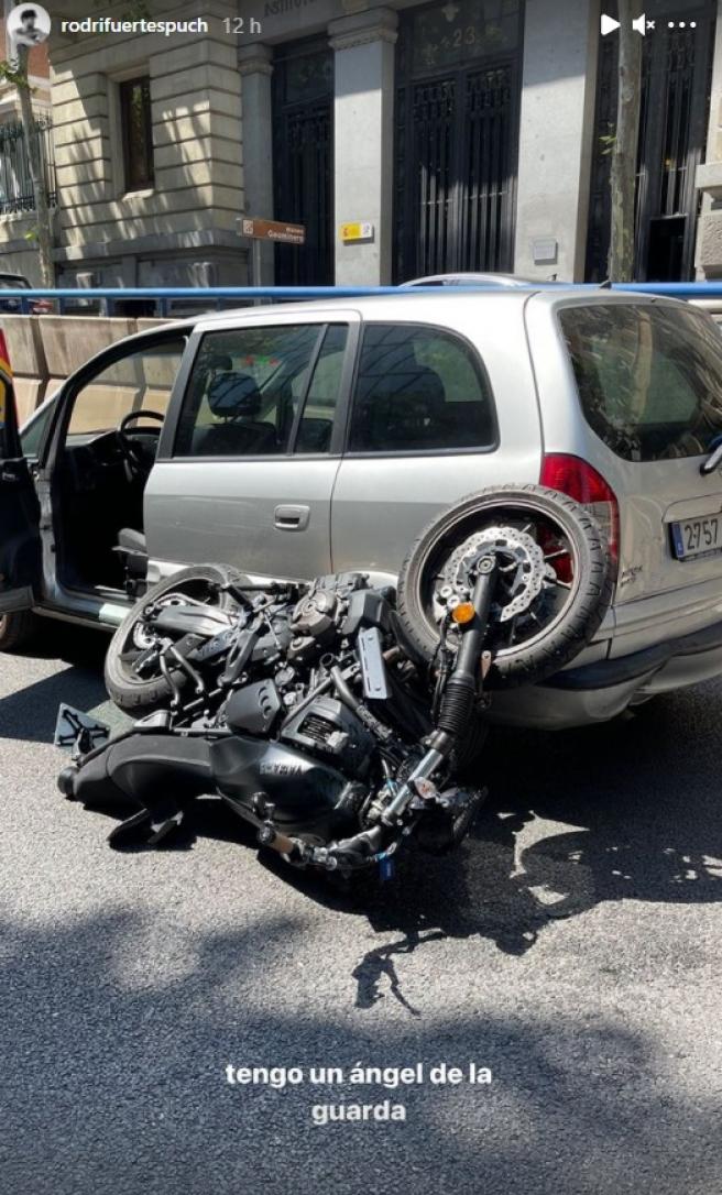 El accidente de Rodrigo Fuertes, novio de Adara Molinero.