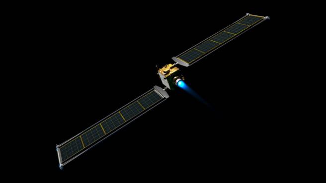 Ilustración de la nave espacial DART.