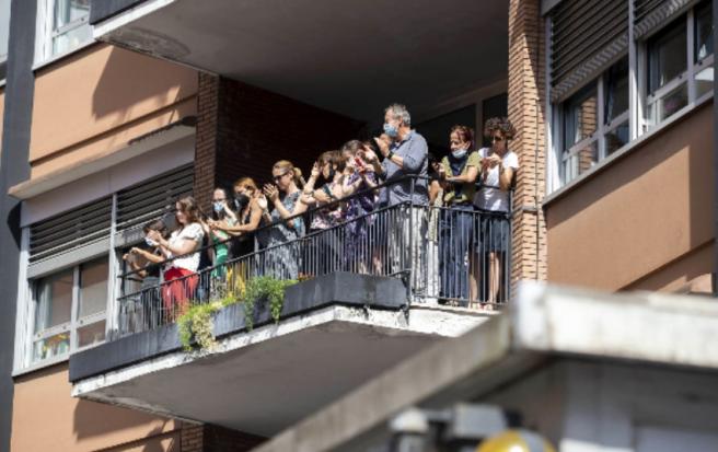 Los ciudadanos italianos despiden a Raffaella Carrà.