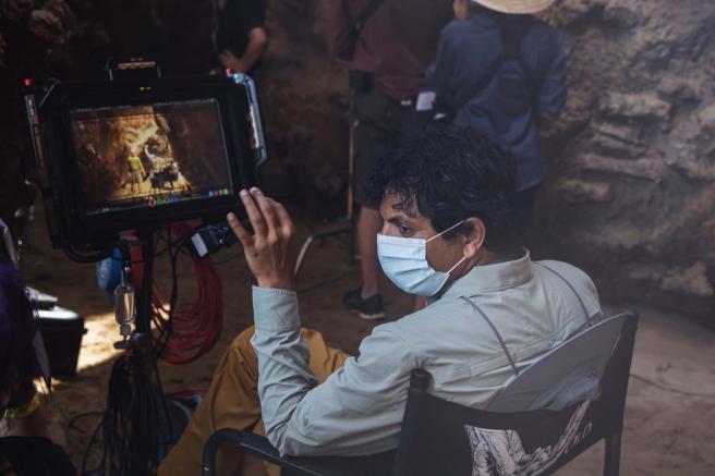 M. Night Shyamalan en el set de 'Tiempo'