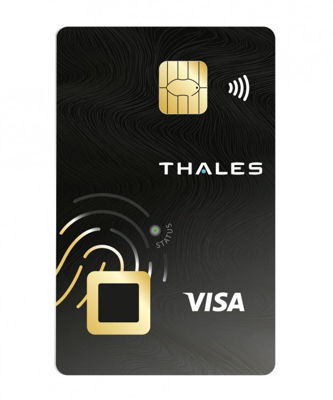 Diseño de la tarjeta biométrica de Thales.