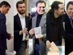 Los seis principales candidatos votan este 10-N