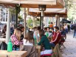 Una terraza de un bar de Barcelona.