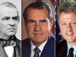 Andrew Johnson, Richard Nixon y Bill Clinton.