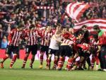 El Athletic celebra el pase a la final de Copa.