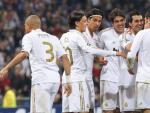 Cristiano Ronaldo celebra el segundo gol ante el CSKA.