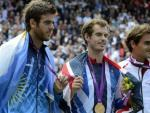 Andy Murray (oro), Roger Federer (plata) y Del Potro (bronce) reinan en Londres 2012.