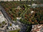Imagen aérea del Parque del Retiro y su entorno.