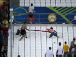Ultras russes et hooligans anglais, en pleine bagarre au stade Vélodrome de Marseille.