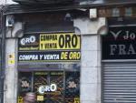 Un establecimiento de compra y venta de oro.