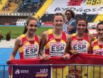 El relevo 4x100 femenino sub-23 español, medalla de oro en los Europeos de la categoría.