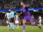 Cristiano Ronaldo celebra su segundo gol ante la Juventus en la final de Champions.