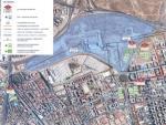 Plano de los accesos en transporte público al Wanda Metropolitano.