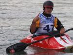 El gerundense Quim Fontané, en el kayak.