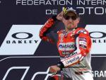 Jorge Lorenzo celebra su victoria en el GP de Italia.
