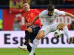 Un lance del partido entre España y Suiza.