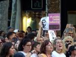 Manifestación contra la puesta en libertad provisional de 'La Manada'.