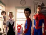 Los seis héroes arácnidos que protagonizan 'Spider-Man: Un nuevo universo'.