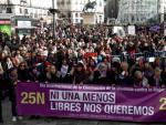 Miles de personas salieron este domingo a las calles de Madrid para exigir el fin de la violencia machista.