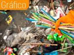 Las pajitas de plástico acaban contaminando los océanos, mares y playas.
