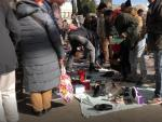 Los vendedores del mercadillo ambulante de Atocha.