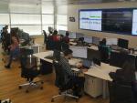 El Centro de Operaciones de Seguridad (SOC) de S21sec de Madrid.