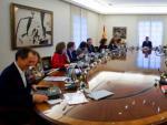 El presidente del Gobierno, Pedro Sánchez, en una reunión del Consejo de Ministros.
