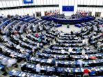 Vista general del hemiciclo del Parlamento Europeo en Estrasburgo (Francia).