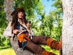 El 'cosplayer' madrileño Prnze con su traje de Jack Sparrow de 'Piratas del Caribe'.