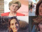 De arriba a abajo y de izq. a dcha., Ana Orantes, Laura Luelmo, Diana Quer y Laura del Hoyo, ninguna registrada en el recuento oficial de víctimas de violencia de género en del Ministerio de Igualdad.