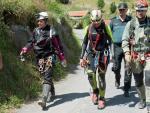 Las tres espeleólogas rescatadas de la cueva Coventosa (Cantabria).