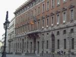 Imagen de la fachada del Ministerio de Hacienda, en la madrileña calle de Alcalá.
