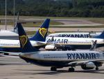 Aviones de la compaía Ryanair.