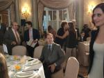 """La presidenta de la Comunidad de Madrid, Isabel Díaz Ayuso, en el desayuno """"Fórum Europa. Tribuna Catalunya"""", celebrado en Barcelona."""