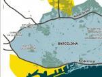 Mapa de emisiones en Barcelona