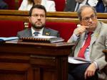 El presidente de la Generalitat, Quim Torra, y el vicepresidente Pere Aragonès.