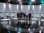 Los cinco candidatos, antes de empezar el debate