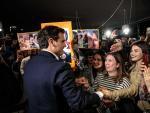 """El líder de Ciudadanos, Albert Rivera, en un """"encuentro ciudadano"""" en Valencia."""