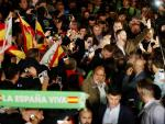 El líder de Vox, Santiago Abascal, en un acto en Sevilla.