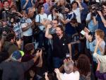 Pablo Iglesias en un mitin en Palma de Mallorca.