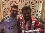 Messi posa junto a Turki Al Sheikh, dueño del UD Almería.