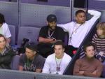 Neymar, dans la Magic Box pendant la Coupe Davis.
