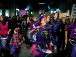 Manifestación contra la violencia machista en Ourense.