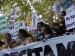 Manifestantes en la manifestación contra el cambio climático del 27 de septiembre de 2019 en Madrid.