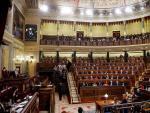 Vista del hemiciclo del Congreso durante la intervención del presidente de la Mesa de Edad, Agustín Zamarrón, al inicio la sesión constitutiva de la XIV Legislatura.