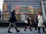 Protesta de Greenpeace en el edificio Europa de Bruselas.