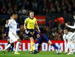 Fede Valverde durante el Clásico entre FC Barcelona y Real Madrid.