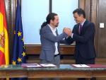 Sánchez e Iglesias presentan su programa de Gobierno de coalición