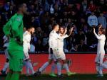 El Real Madrid celebra un gol ante el Getafe
